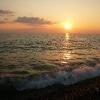 Черное море Заход солнца