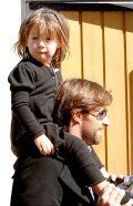 Хью Джекман с дочерью