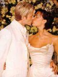 Дэвид Бэкхем и Виктория Свадебное фото