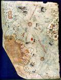 Древняя карта с очертаниями Антарктиды